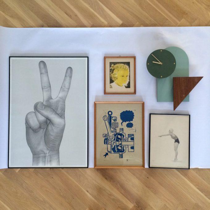 nem Billedvæg med plakater, prints, kunst