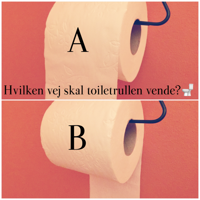 Hvilken vej skal toiletrullen hænge? Voxtrup