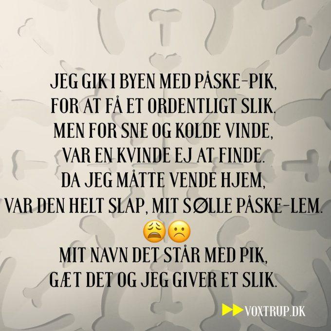 gækkebrev gækkerim sjove gækkebreve - Voxtrup.dk