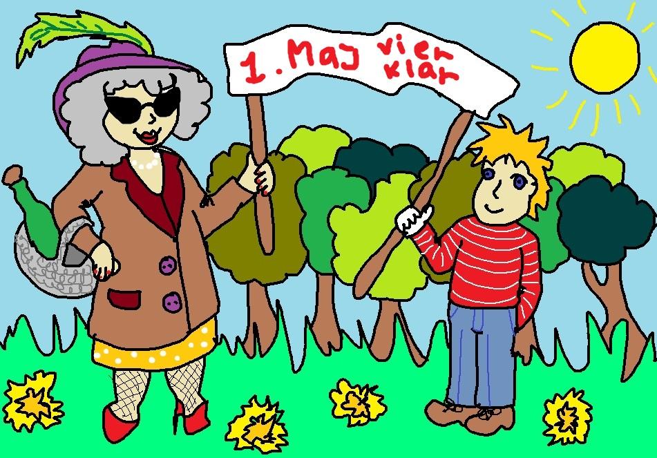 mormor-og-lille-bjarne-1.-maj-tegning-tegnestreg-tegnestregen-illustration-illustrationer-maybritt-laisbo-2