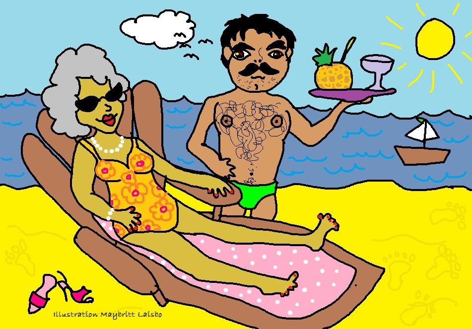 mormor-på-ferie-tegning-illustration-tegnestreg-tegnestregen-illustrationer