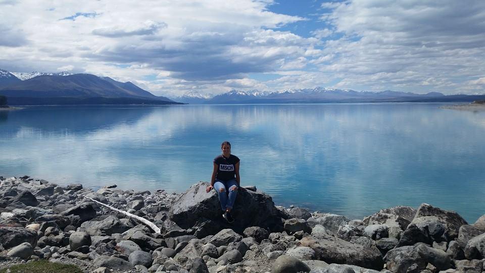 Lookout til smukke Mount Cook (New Zealands højeste bjerg)
