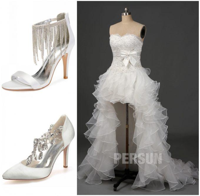 comment choisir chaussures de mariage pour robe mariée bascule