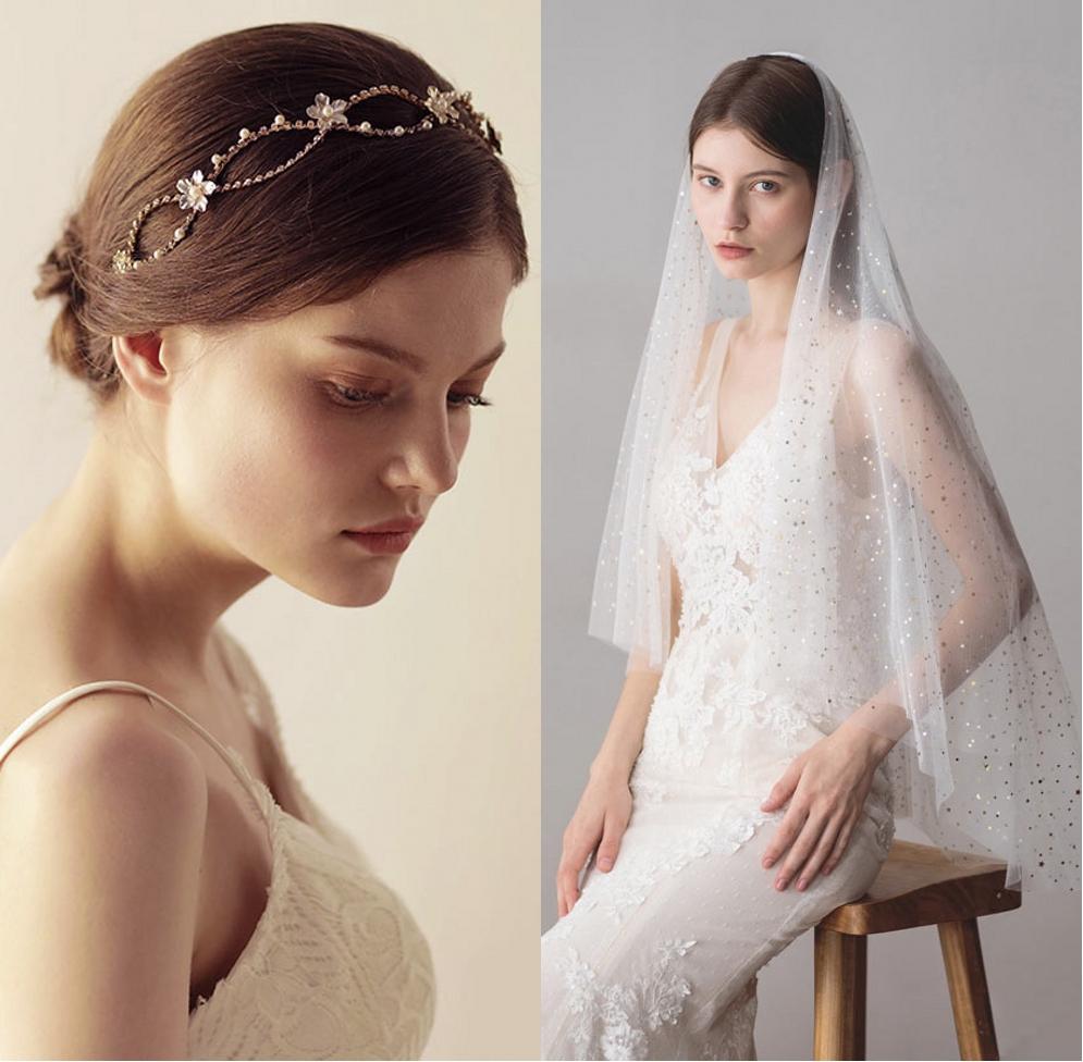 coiffe de mariage et voile de mariée