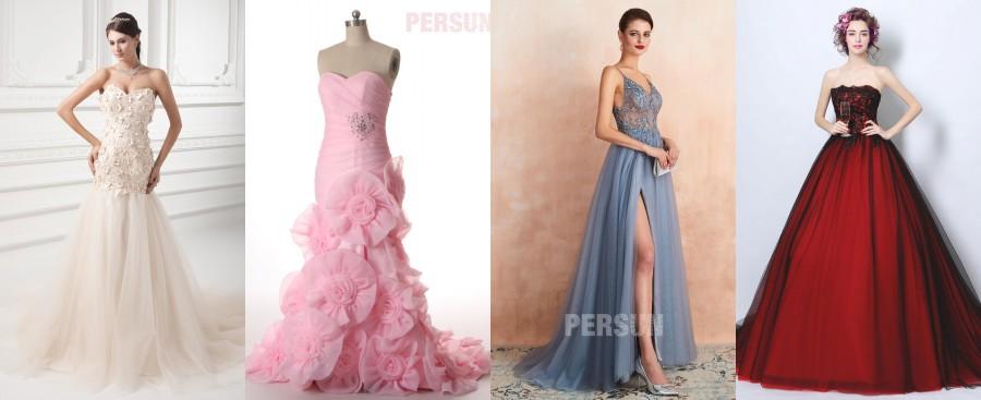 robe magnifique longue au sol colorée pour mariage