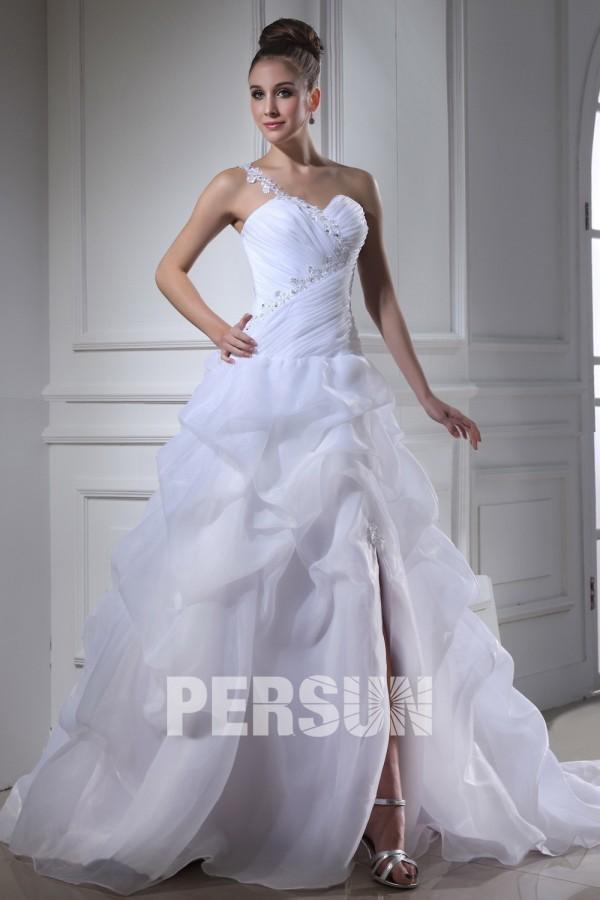 robe de mariée moderne bustier longue au sol