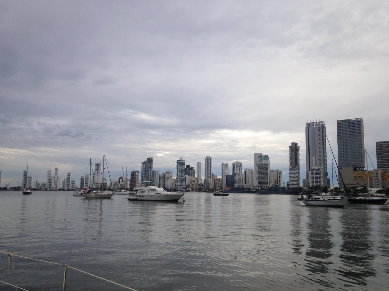 Sådan så det ud, da vi klokken 06 forlod smukke Cartagena