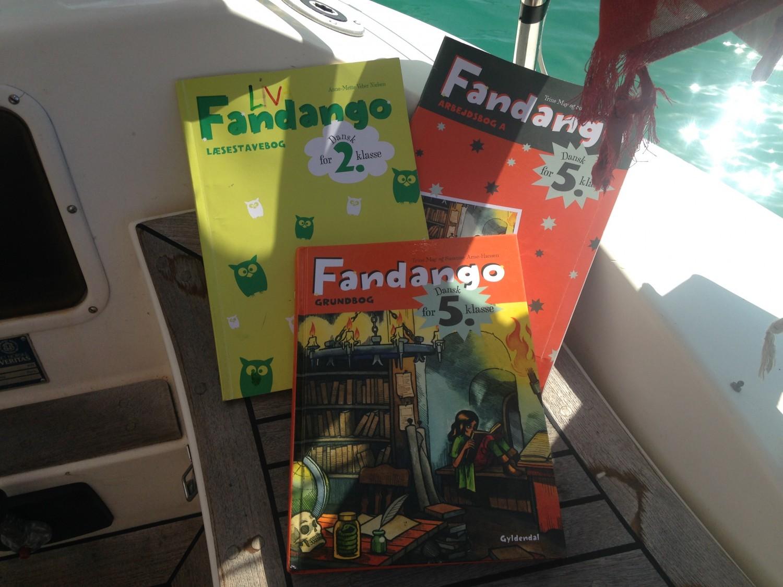 Et lille udvalg af de Fandango-bøger vi arbejder med i år.