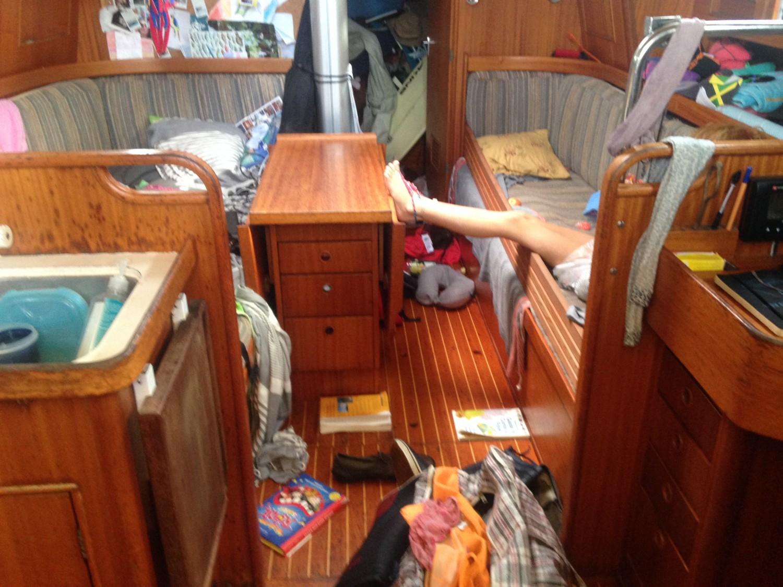 Og en kaos-båd efter en kaos-tur