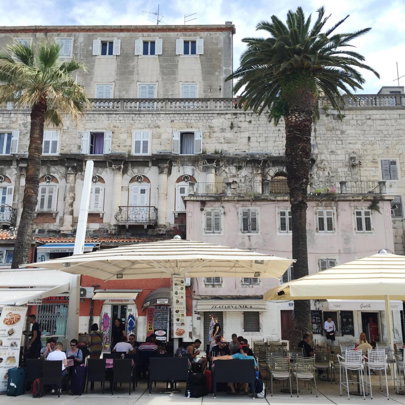 Split Kroatien og den smukke gamle by (old town).