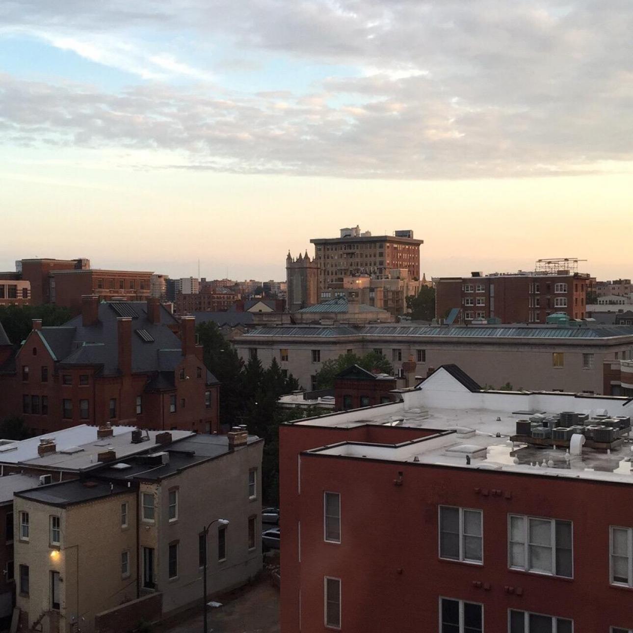 Smuk solopgang over Washington DC.