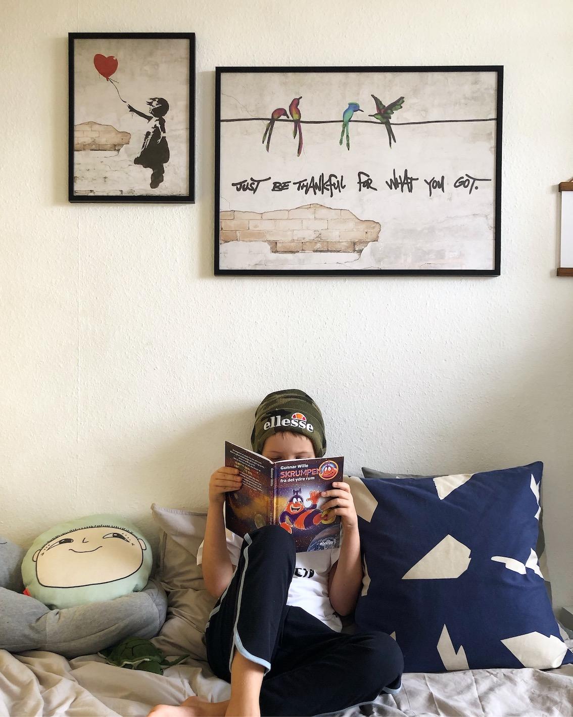 Desenio plakat børneværelse banksy tween værelse urbannotes.dk