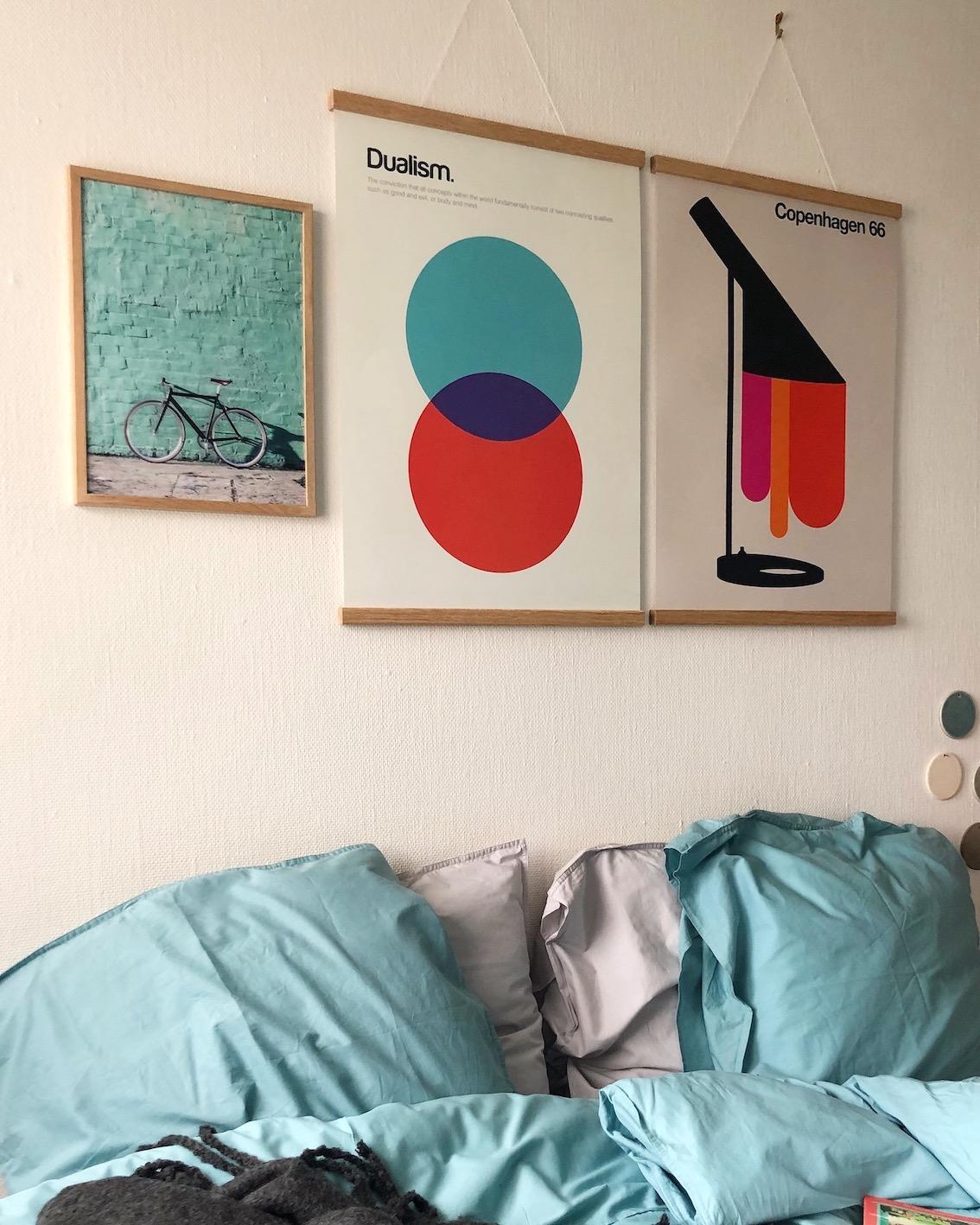 Desenio plakat københavn cykel dualism lampe urbannotes.dk soveværelse