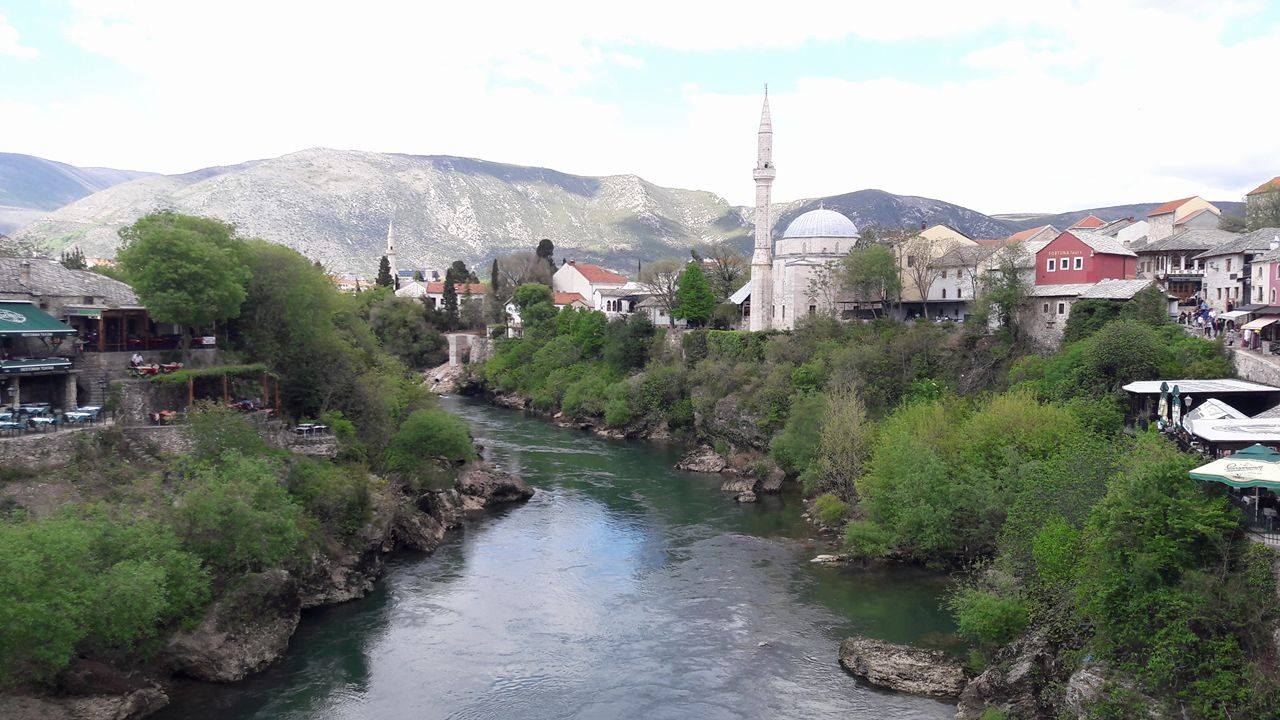 The view in Mostar