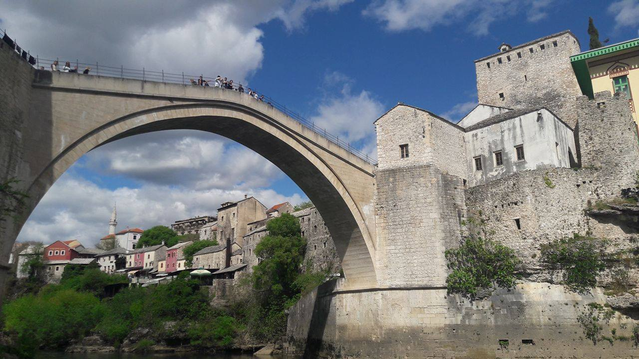 The famous bridge in Mostar