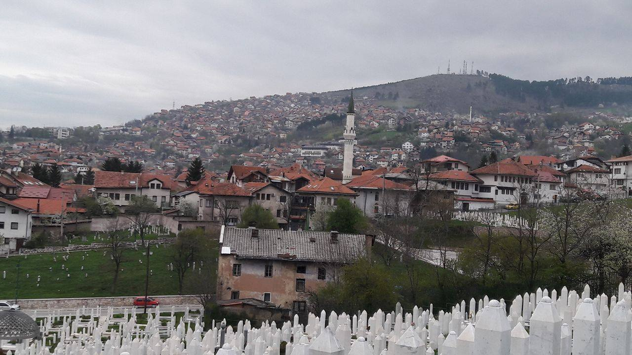 "The view from the ""yellow fort"" in Sarajevo"