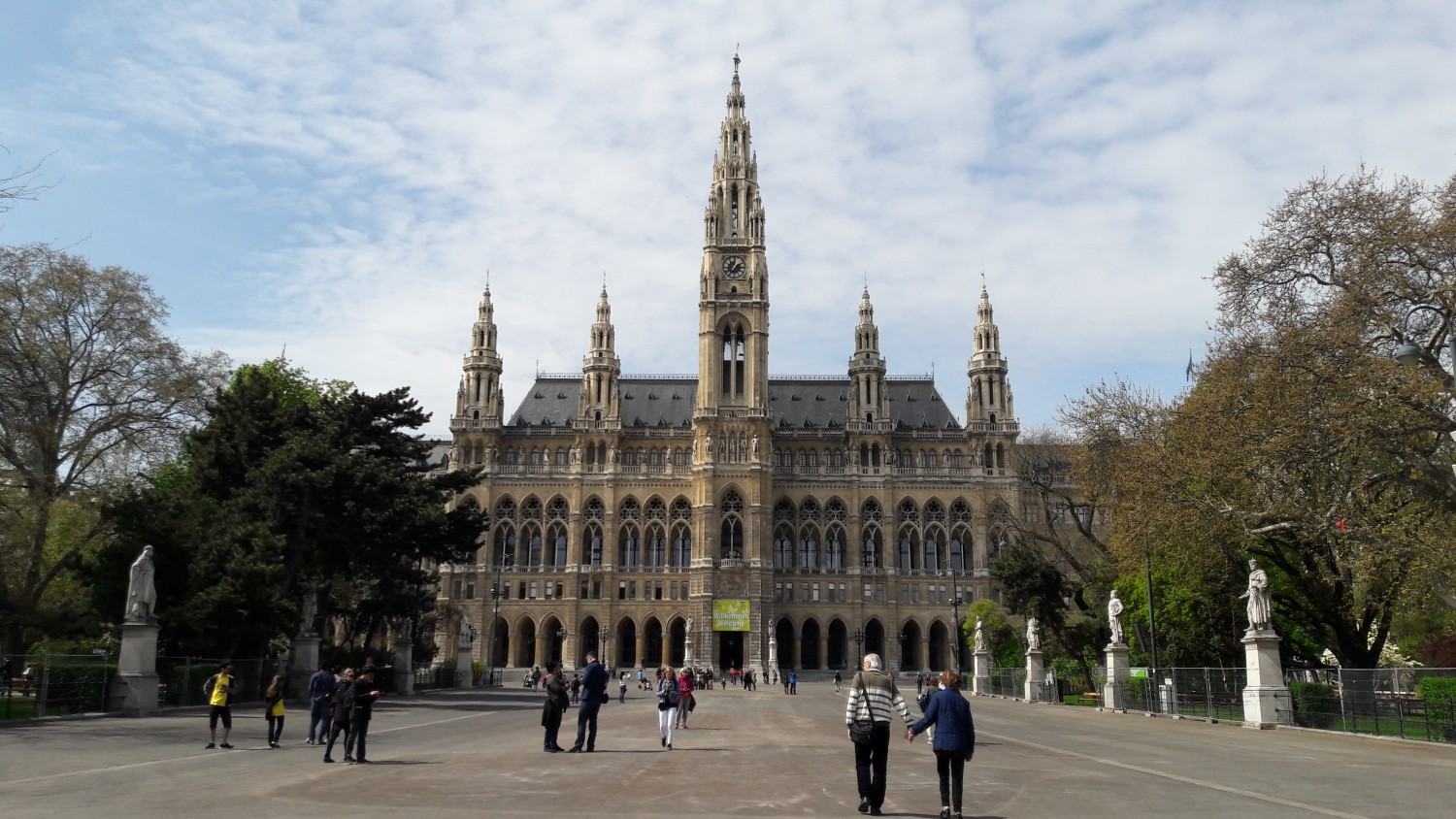The city hall - this is also the place where Vienna Open is played!