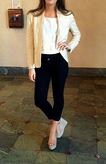 Mit outfit i går Jeans - Second Female / / Top - Masai // Blaser - Malene Birger