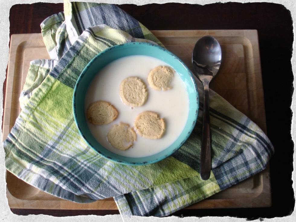 Bowl of buttermilk soup