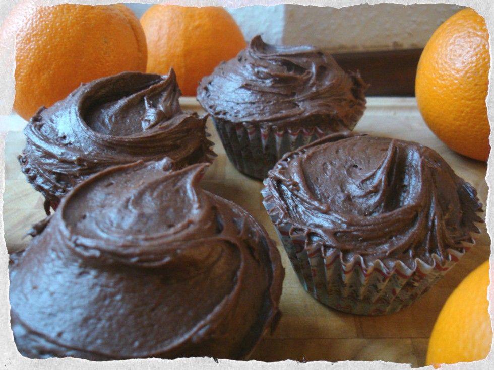 Homemade Chocolate-Orange cupcakes