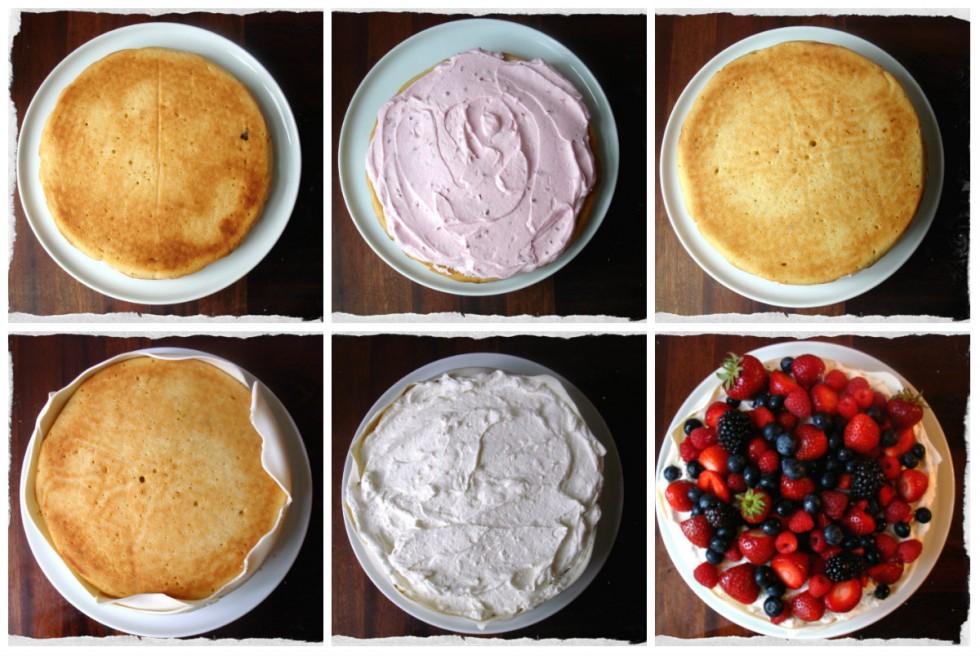 Birthday cake step by step