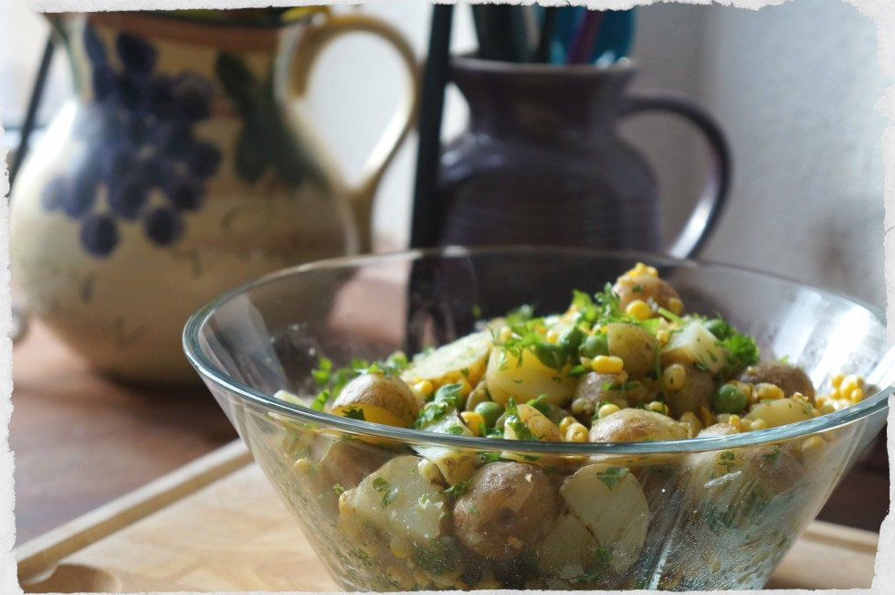 Potato and corn salad