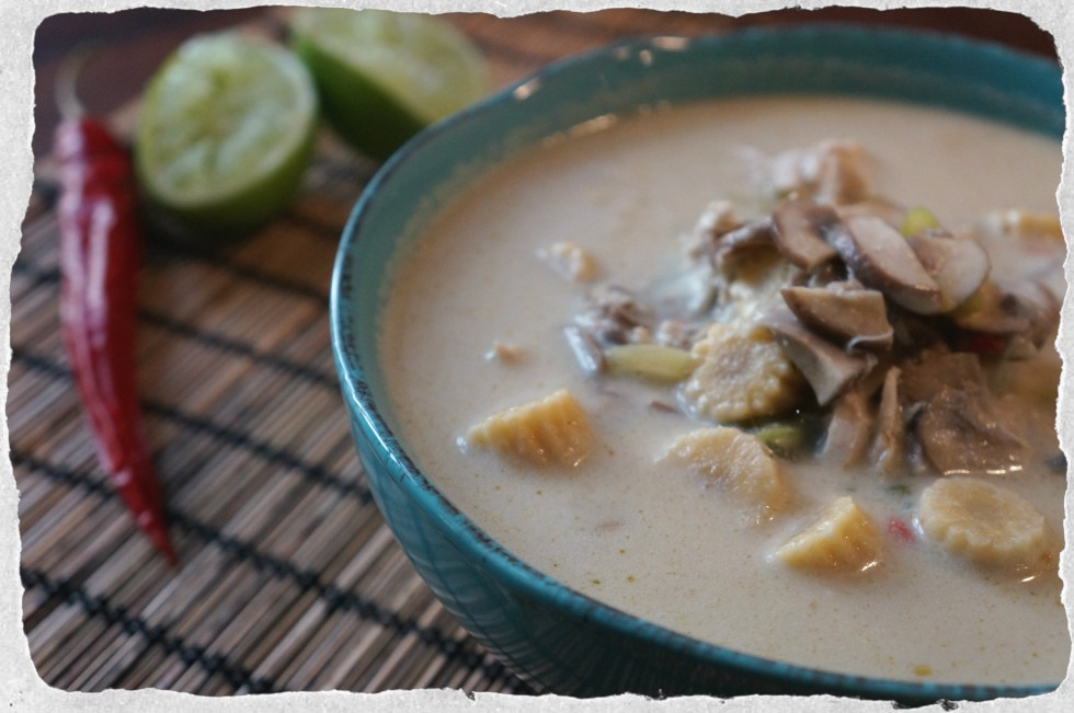 Hot and spicey green curry soup