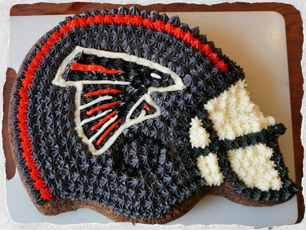 NFL Atlanta Falcons Helmet Cake