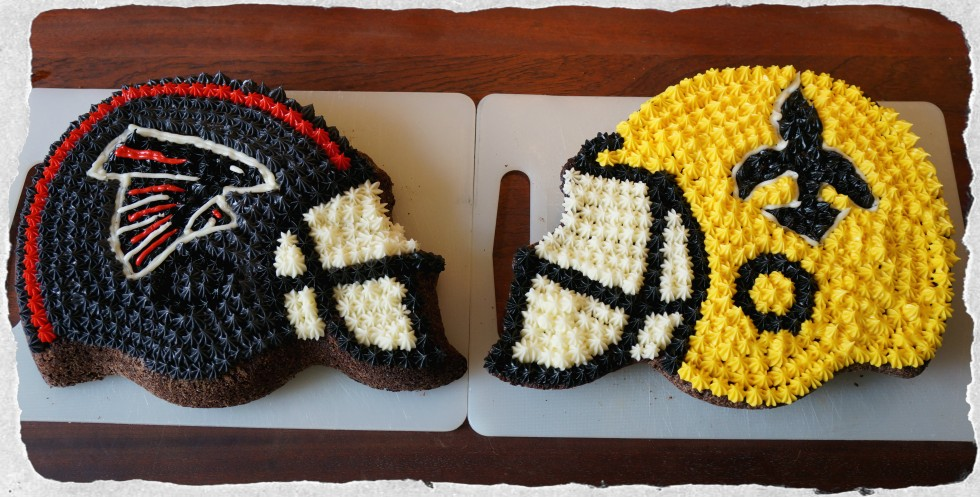NFL Cakes Falcons and Saints