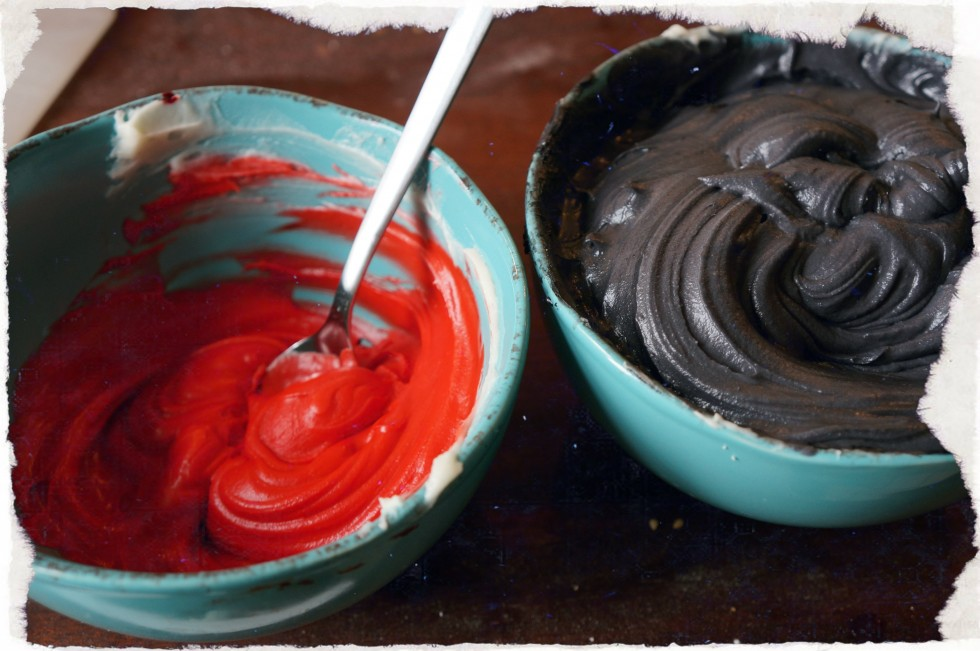Red and Black Frosting