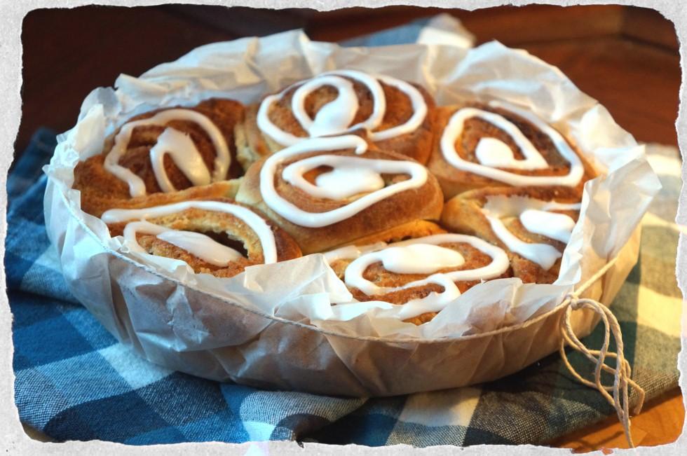 homemade buns with marzipan
