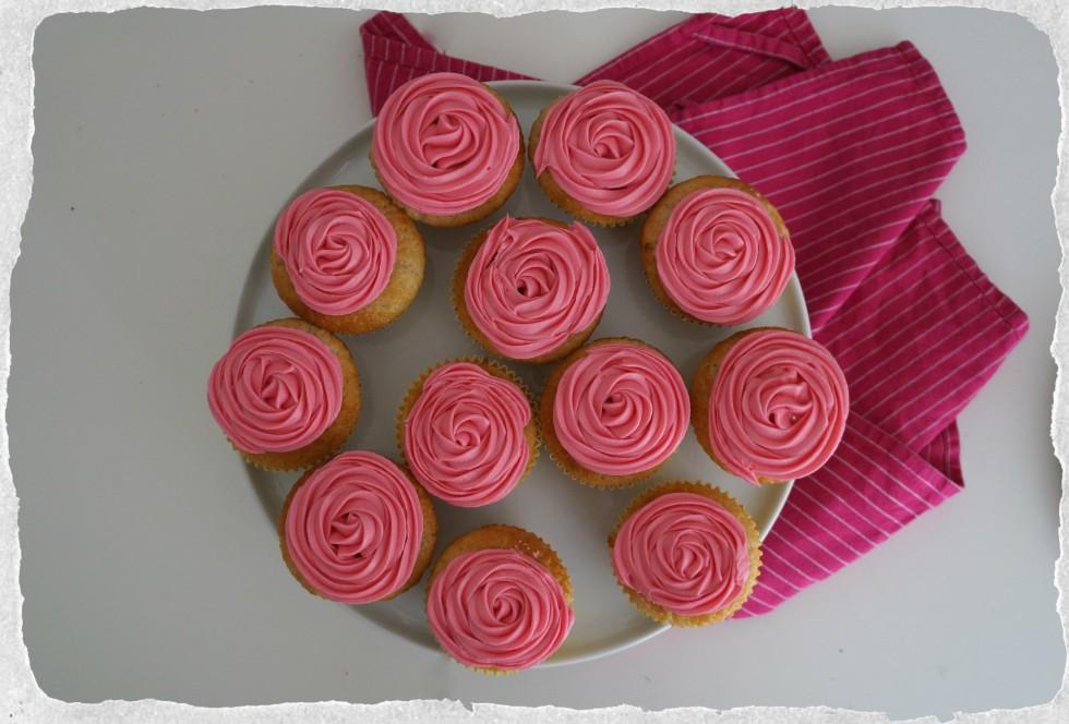 Vanilla and rose cupcakes