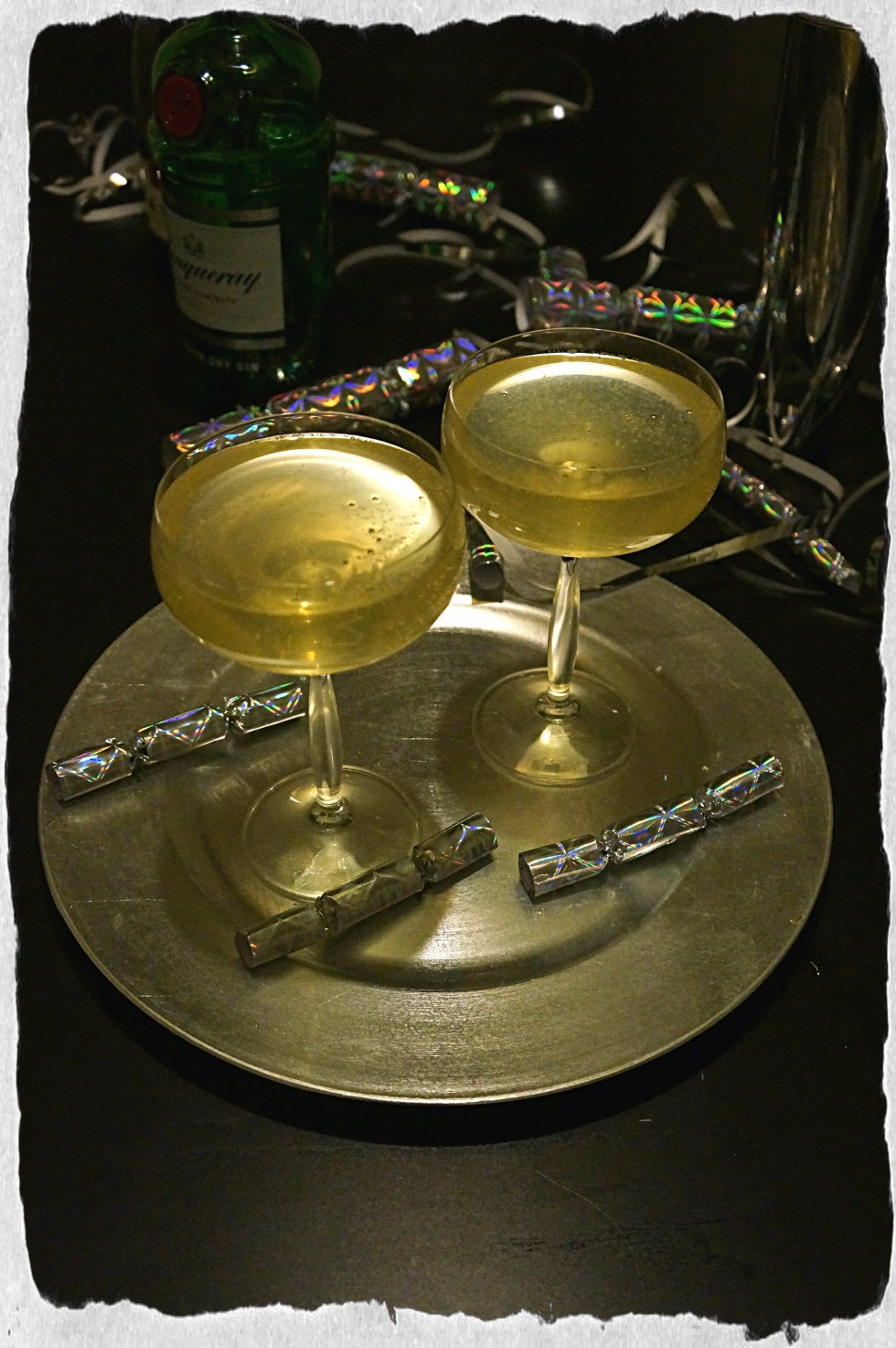 Champagne cocktail with Gin and Sour Mix