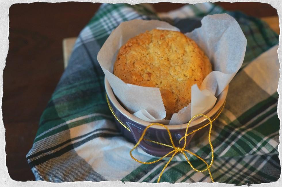 Homemade almond, marzipan, orange cookies