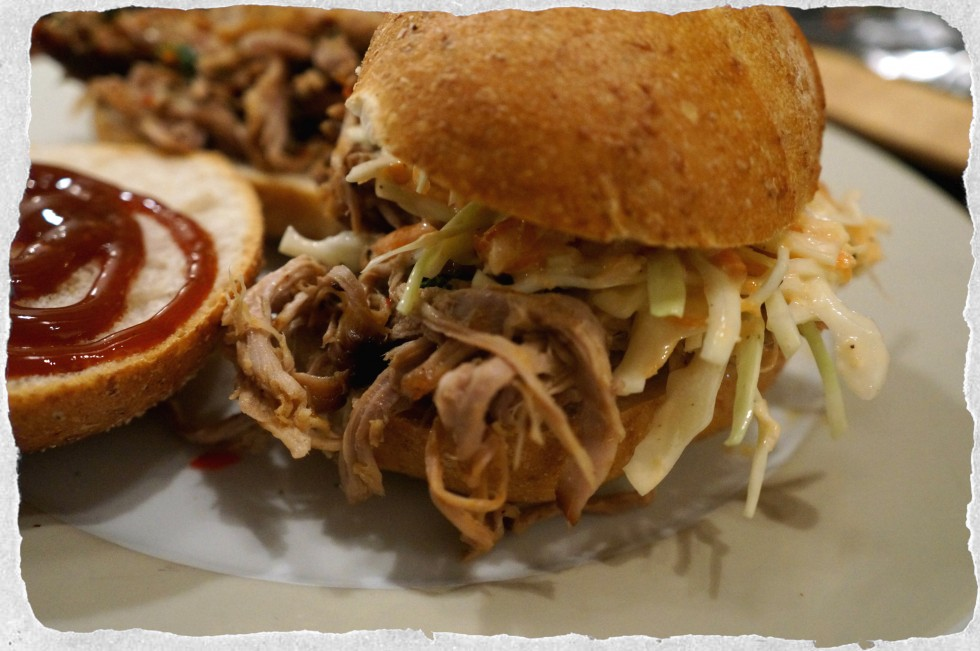 Pulled pork sandwich a Jamie Oliver recipe