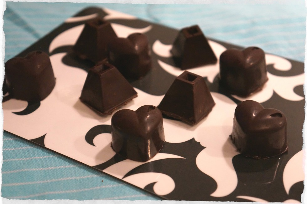 Chocolates filled with meringue