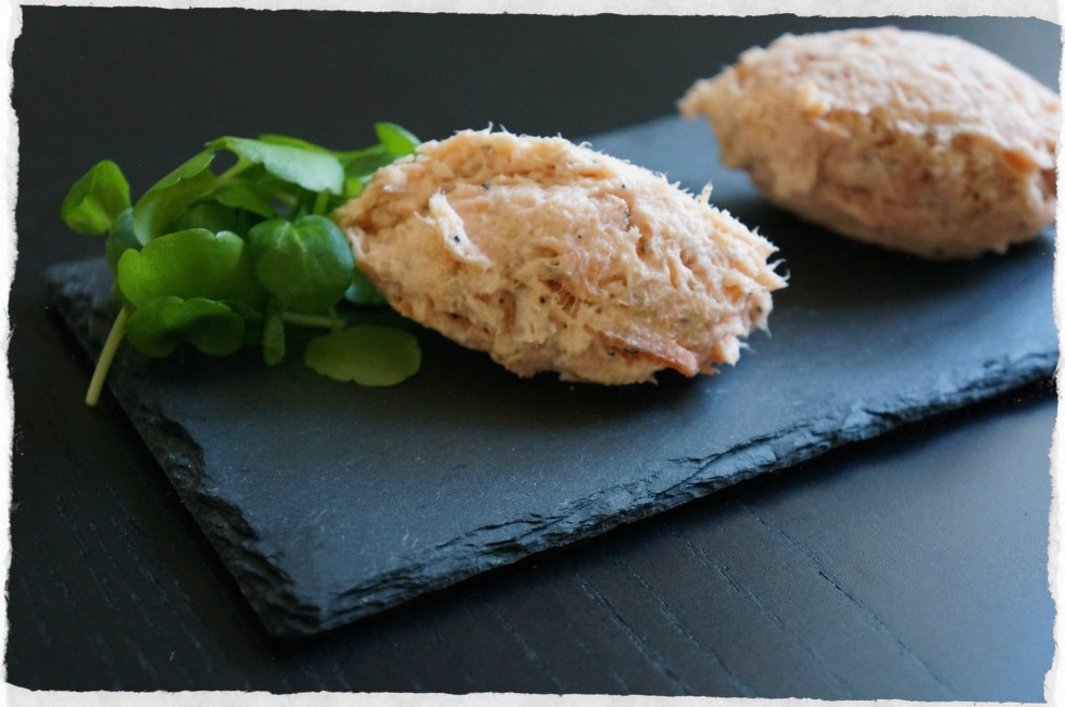 Homemade salmon mousse