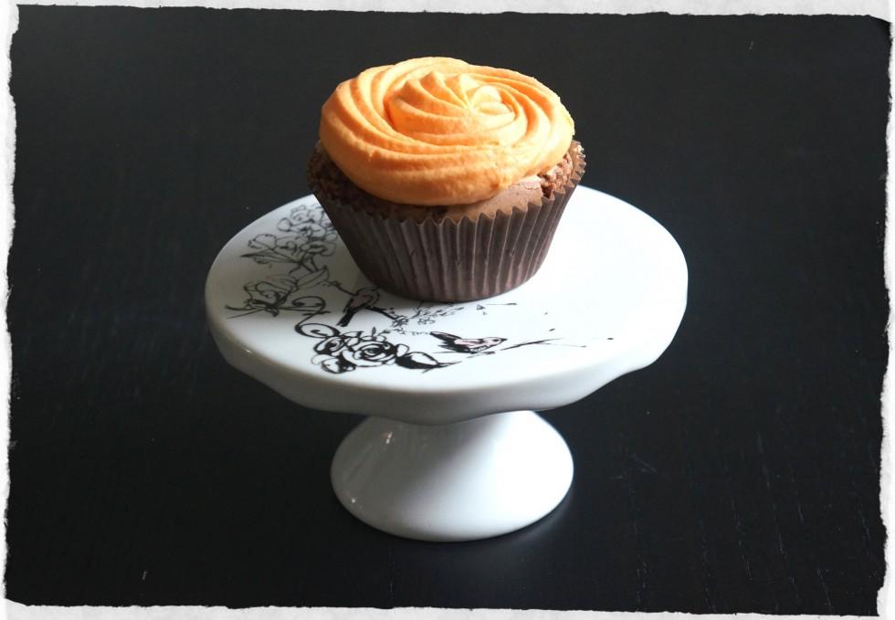 Brownie cupcake.