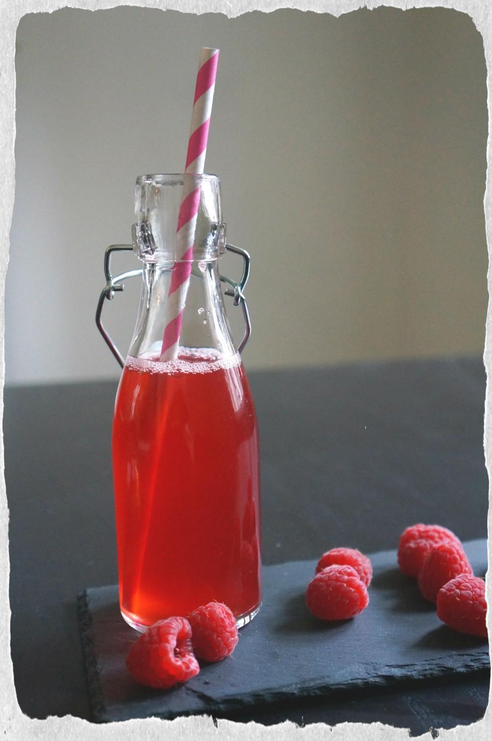Raspberry ade homemade