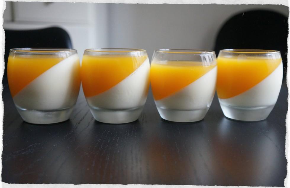 homemade panna cotta