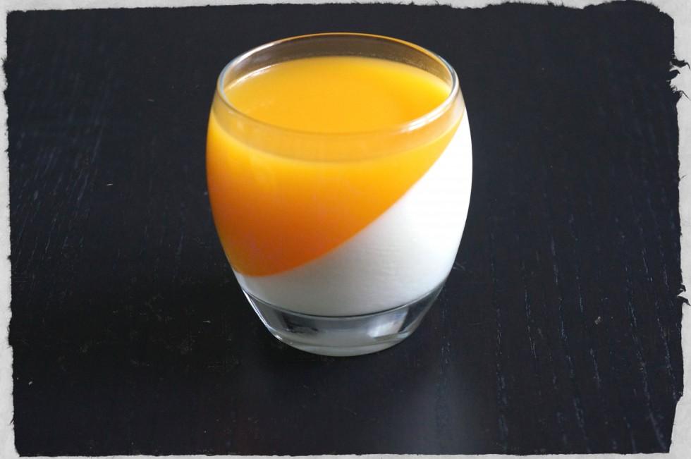 white chocolate and mango dessert