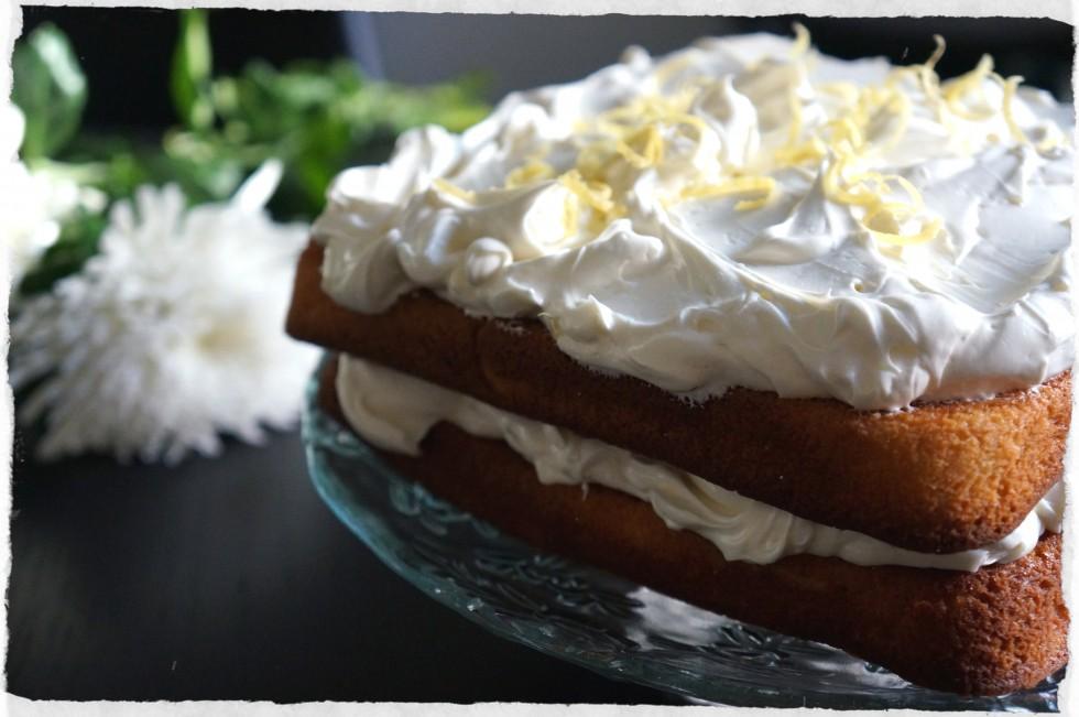 Lemon cake coconut frosting