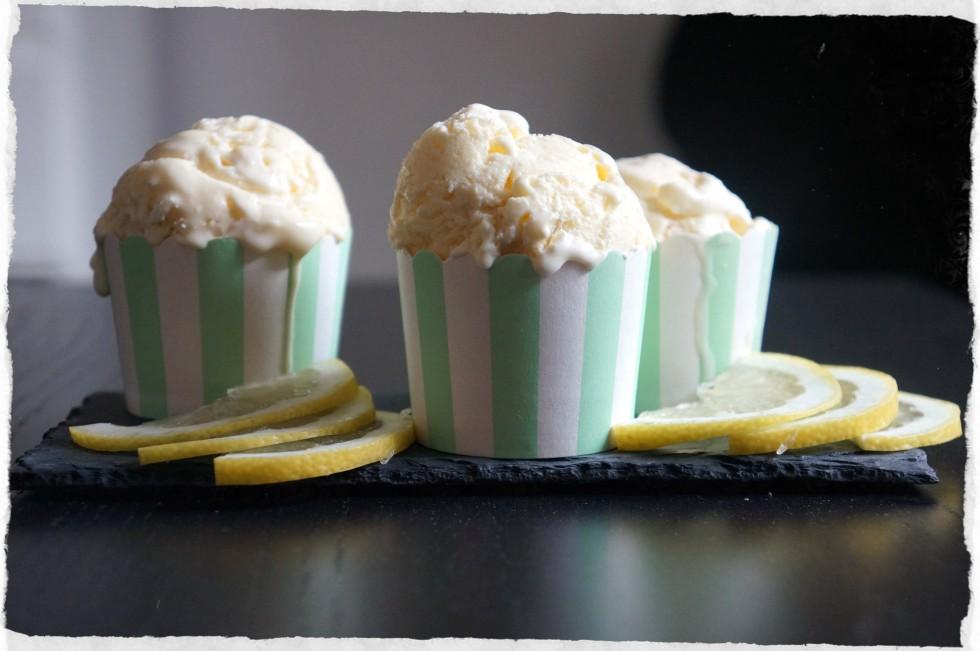 Lemon ice cream homemade