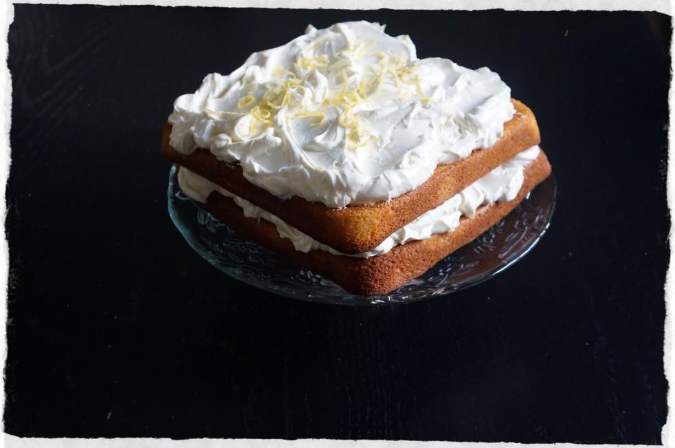 lemon cake made with sour cream
