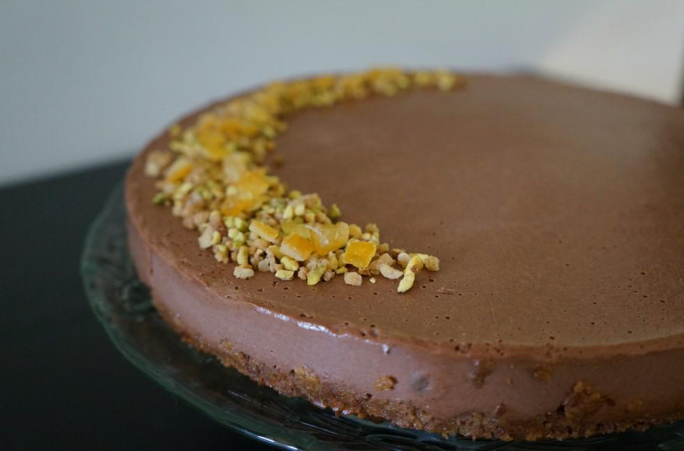 Orange and chocolate cheesecake no bake