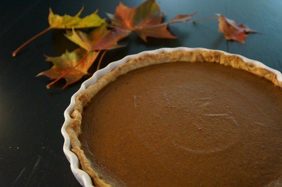 Homemade pumpkin pie.