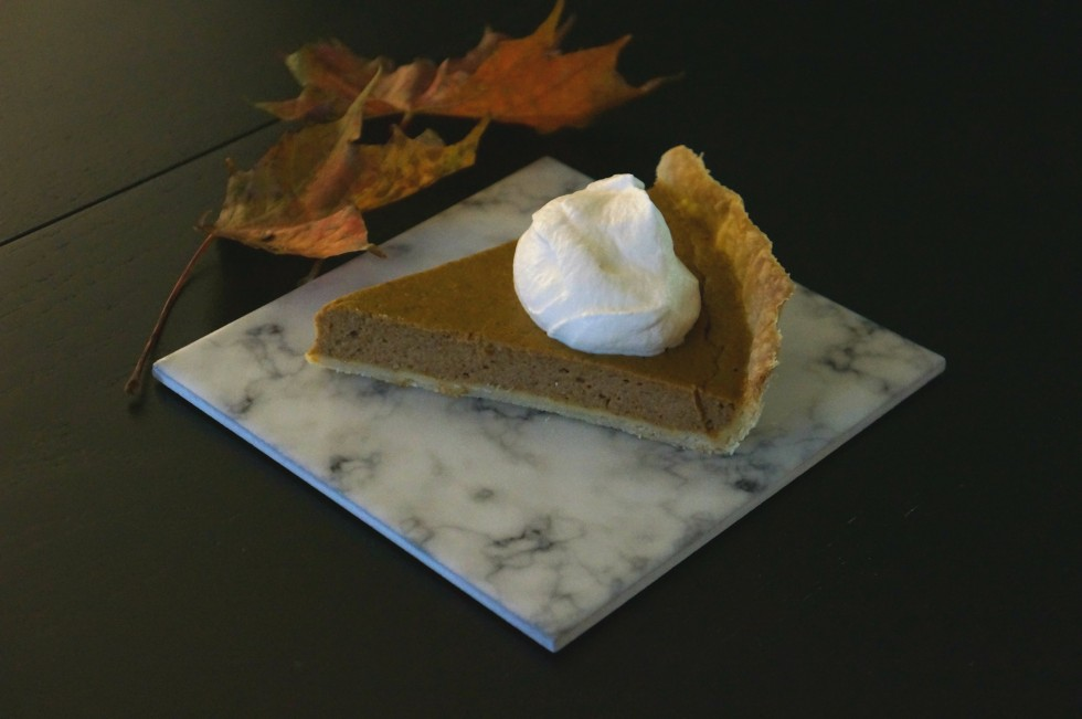 homemade pumpkin pie..