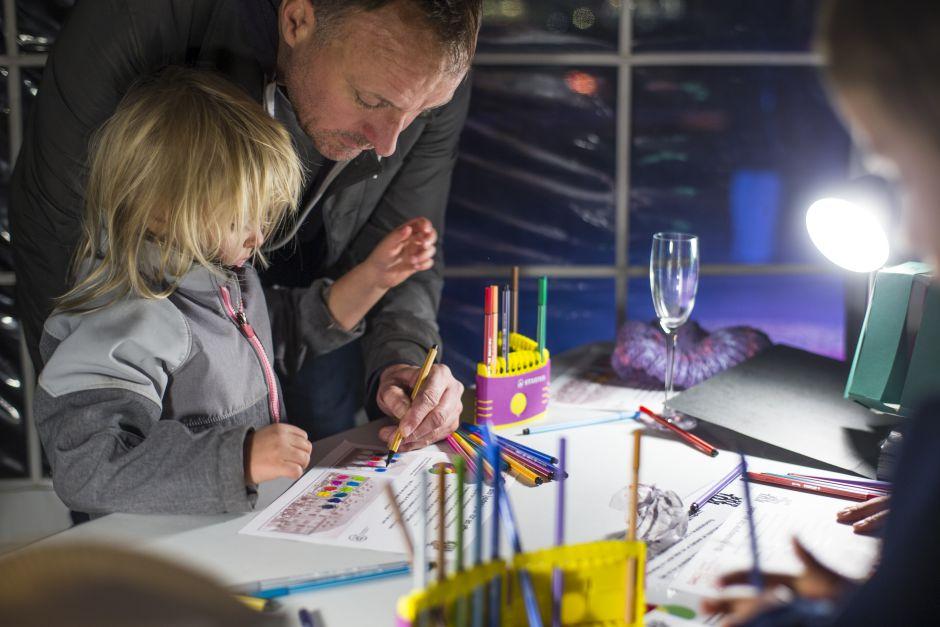 Far og datter ved kulturnatten 2015. Foto: Sattrup & Høst