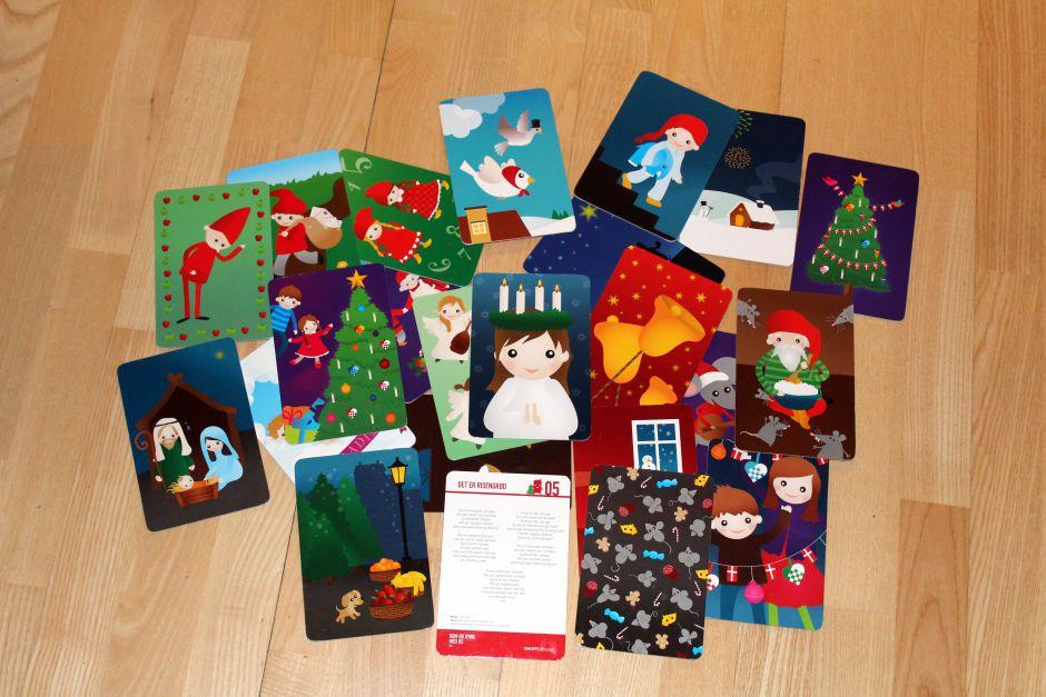 Kortene i 'Kom og syng med os - jul'