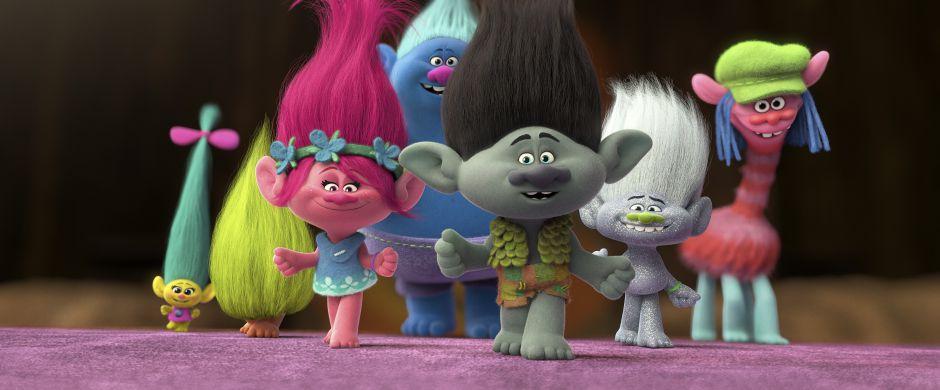 Prinsesse Polly og Trolden Kvist sammen med deres venner. Foto: XXX